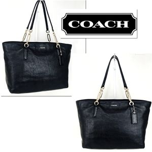 Coach Madison East West Leather Shoulder Tote!